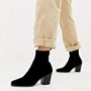 ASOS DESIGN – Rodeo – Schlichte Ankle-Boots im Westernstil – Schwarz