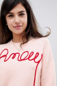ASOS DESIGN - Amour - Pullover aus Bio-Garn - Rosa - Farbe:Rosa