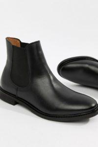Vagabond - Casey - Schwarze Stiefel mit flacher Plateausohle und elastischem Schaft - Schwarz - Farbe:Schwarz