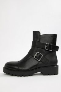 Vagabond - Kenova - Schwere Biker-Stiefel aus schwarzem Leder - Schwarz - Farbe:Schwarz