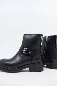 AllSaints - Thea - Stiefel mit Schnallendetail - Schwarz - Farbe:Schwarz