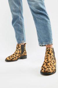 Accessorize - Chealsea-Stiefel mit Leopardenmuster - Gelb - Farbe:Gelb