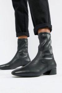 Vagabond - Joyce - Spitze Stiefel aus schwarzem Leder - Schwarz - Farbe:Schwarz