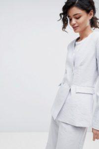 2NDDAY - Zweireihiger Blazer - Grau - Farbe:Grau