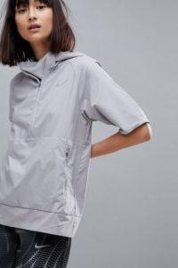 Nike Running - Flex Essential - Kurzärmlige Jacke in Grau - Grau - Farbe:Grau