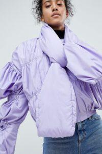 ASOS - Bomberjacke mit Schnürung am Ausschnitt - Violett - Farbe:Violett