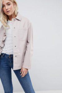 ASOS - Jacke mit Rüschendetail - Rosa - Farbe:Rosa