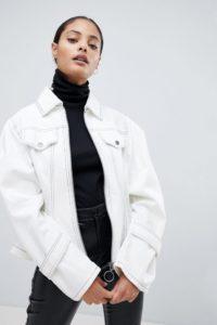 ASOS - Jacke mit Schnürung - Weiß - Farbe:Weiß