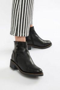 Aldo - Flache Ankle-Boots aus Leder - Schwarz - Farbe:Schwarz