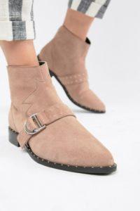 ASOS DESIGN - Anacoda - Cowboystiefel aus Wildleder - Rosa - Farbe:Rosa