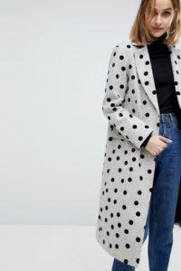 ASOS - Gepunkteter Mantel - Mehrfarbig - Farbe:Mehrfarbig