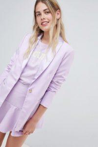 Amy Lynn - Figurbetonter Blazer mit Satin-Revers - Blau - Farbe:Blau