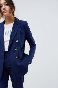 Amy Lynn - Zweireihiger Blazer - Navy - Farbe:Navy