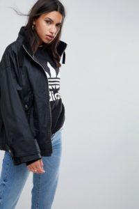 ASOS - Gewachste Regenjacke - Schwarz - Farbe:Schwarz
