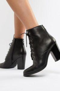 ALDO - Ibauvia - Schnürstiefel aus Leder mit Absatz - Schwarz - Farbe:Schwarz