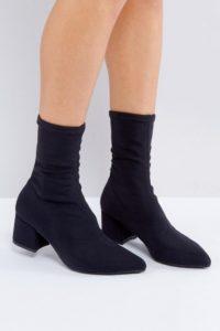 Vagabond - Mya - Schwarze Stiefel mit Stretchschaft - Schwarz - Farbe:Schwarz