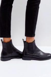 Vagabond - Amina - Chelsea-Stiefel aus schwarzem Leder - Schwarz - Farbe:Schwarz