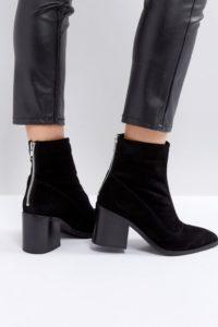 ASOS - ROXANNA - Spitze Ankle-Boots aus Wildleder - Schwarz - Farbe:Schwarz