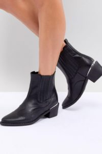 Missguided - Ankle Boots im Westernstil - Schwarz - Farbe:Schwarz
