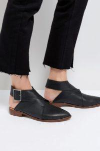 Free People - Ankle-Boots aus Leder mit Wickel-Design - Grau - Farbe:Grau