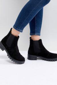 ASOS DESIGN - Aquarius - Chelsea-Stiefel aus Wildleder - Schwarz - Farbe:Schwarz