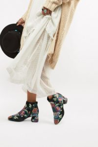 Vero Moda - Ankle-Boots mit Paisley-Muster - Mehrfarbig - Farbe:Mehrfarbig