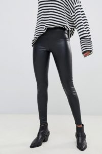 AllSaints - Cora - Leggings aus Kunstleder - Schwarz - Farbe:Schwarz