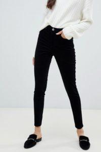 Miss Selfridge - Enge Cord-Hose in Schwarz - Schwarz - Farbe:Schwarz