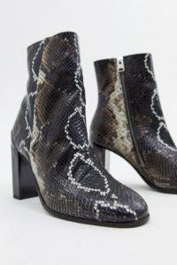 AllSaints - Roka - Stiefel mit Schlangeneffekt - Mehrfarbig - Farbe:Mehrfarbig