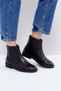 ASOS - ALISTAR - Chelsea-Stiefel aus Leder - Schwarz - Farbe:Schwarz