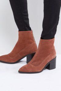 ASOS - ROXANNA - Spitze Ankle-Boots aus Wildleder - Bronze - Farbe:Bronze