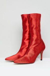 ASOS - ELVA - Stiefel mit Absatz - Rot - Farbe:Rot