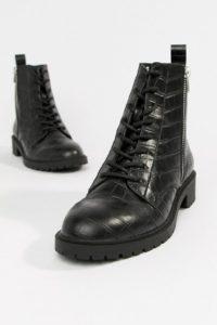 ASOS DESIGN - Adrian - Ankle-Boots mit Schnürung - Schwarz - Farbe:Schwarz