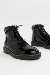 ASOS DESIGN - Anarchy - Lederstiefel mit Schnürung - Schwarz - Farbe:Schwarz