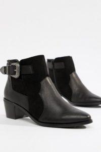 Miss Selfridge - Exklusive Ankle-Boots in Schwarz im Western-Stil - Schwarz - Farbe:Schwarz