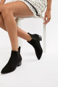 Miss Selfridge - Ankle-Boots aus Wildleder - Rot - Farbe:Rot