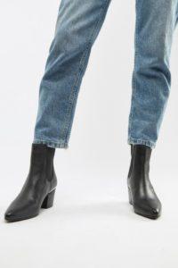 Accessorize - Ankle-Boots aus Leder mit mittelhohem Absatz in Schwarz - Schwarz - Farbe:Schwarz