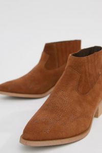 Vero Moda - Lederstiefel - Bronze - Farbe:Bronze