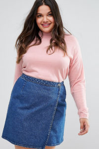 ASOS CURVE - Pullover aus Seidenmischung - Rosa - Farbe:Rosa