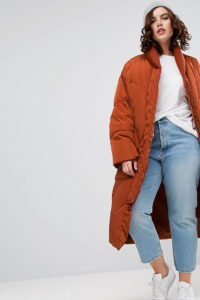 ASOS CURVE - Fäustling-Puffer - Rot - Farbe:Rot