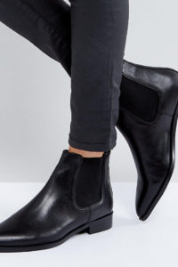 ASOS - AUTOMATIC - Chelsea-Stiefel aus Leder - Schwarz - Farbe:Schwarz