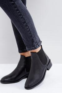 ASOS - ABSOLUTE - Chelsea Ankle Boots aus Leder in breiter Passform - Schwarz - Farbe:Schwarz