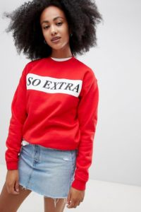 Adolescent Clothing - so extra - Sweatshirt - Rot - Farbe:Rot