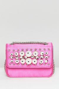 ASOS - Umhängetasche mit Perlenverzierung - Rosa - Farbe:Rosa