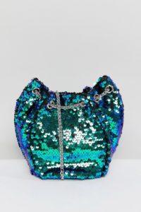 Pull&Bear - Beuteltasche mit Pailletten - Mehrfarbig - Farbe:Mehrfarbig