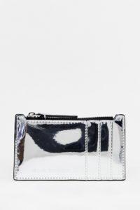 Armani Exchange ‒ Metallic-Kartenetui - Silber - Farbe:Silber