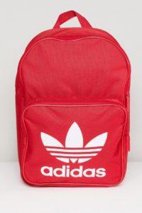 adidas Originals - Klassischer Rucksack in Rot - Rot - Farbe:Rot