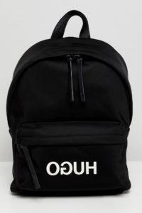HUGO - Rucksack aus Nylon mit Logo - Schwarz - Farbe:Schwarz