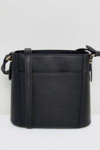 Accessorize - Schwarze Umhängetasche mit Kordelzug - Schwarz - Farbe:Schwarz