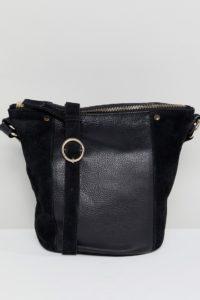 Accessorize - Skylar - Beuteltasche aus Leder und Wildleder - Schwarz - Farbe:Schwarz